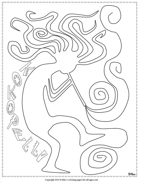 S Mac Coloring Pages by Free Hopi Kachina Doll Coloring Pages