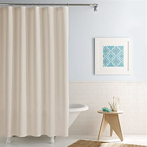 Simple Shower Curtains Real Simple 174 Shower Curtain In Linear Bedbathandbeyond