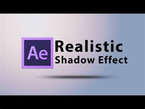 tutorial opening after effect cs6 create a realistic shadow text effect intro in after