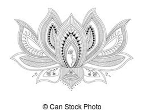 lotus flower tattoo clip art and stock illustrations