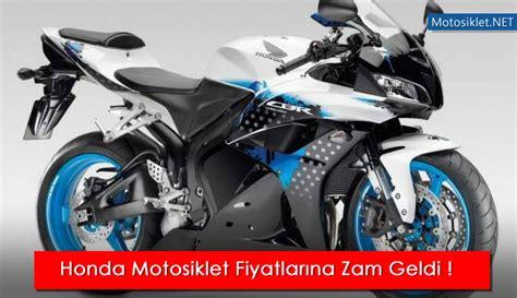 hondadan motosiklet fiyatlarina yeni zam