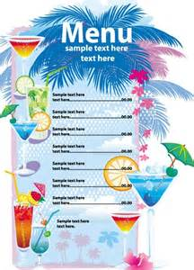 free vector summer drinks menu titanui