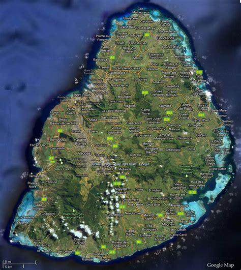 maps satellite view mauritius satellite map mauritius attractions