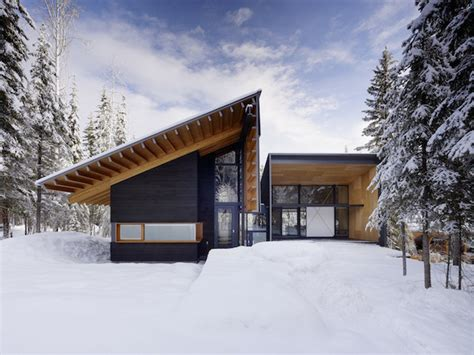house snow wooden snow house fubiz media
