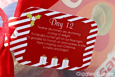12 days of christmas gifts poems 12 days of service day 12 twelve drummers drumming