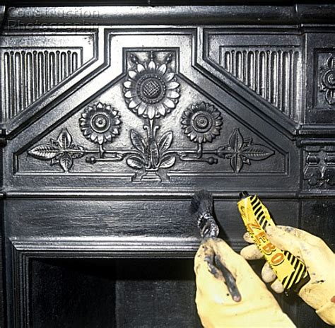 Cleaning Cast Iron Fireplace by A085 00186 Cleaning A Cast Iron Fireplace