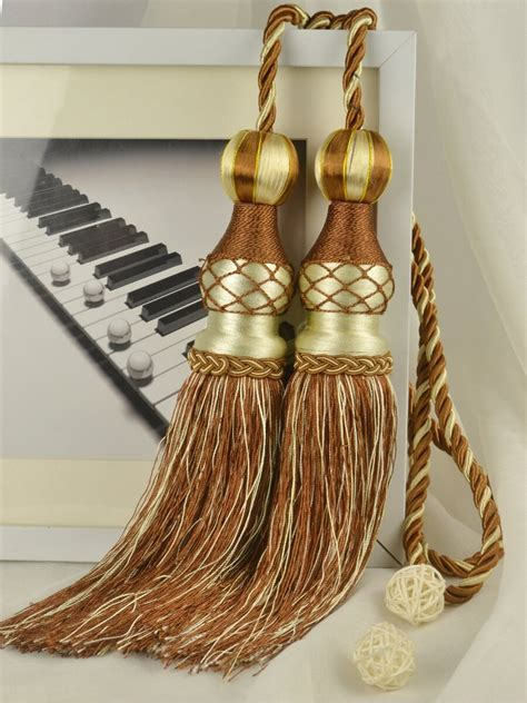 Curtains With Tassels 6 Colors Qym45 Polyester Curtain Tassel Tiebacks Pair