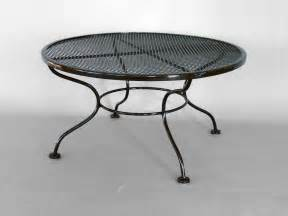 Coffee Table Wrought Iron Woodard Wrought Iron Coffee Or Occasional Table For Sale