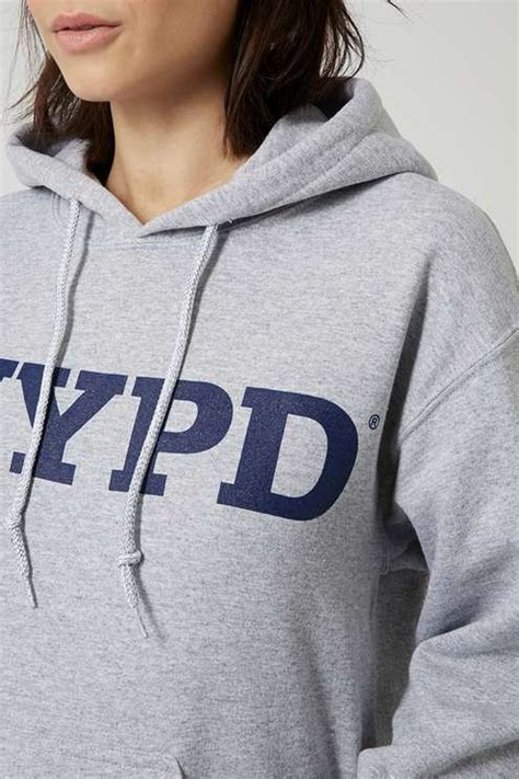 Cotton Lab Essential Hoodie Jumper Grey nypd hoodie by and cake topshop