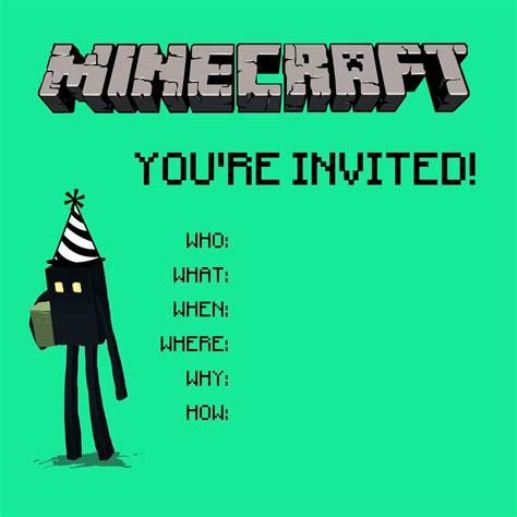ben comics 187 minecraft invitation 1