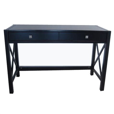Linon Anna Wood Distressed Antique Black Writing Desk Ebay Black Desk