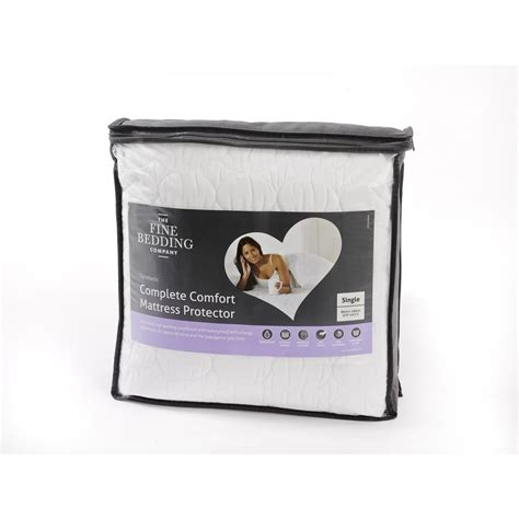the bedding company the fine bedding company quilted luxury waterproof mattress protector super king