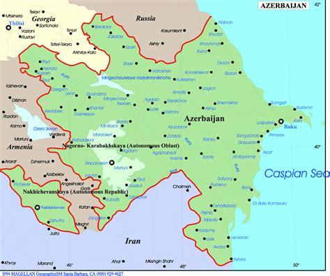 russia map azerbaijan azerbaijan map europe