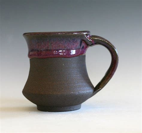 Handcrafted Ceramic Mugs - small pottery coffee mug 8 oz handmade from ocpottery on
