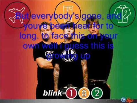 blink 182 dammit growing up blink 182 i guess this is growing up dammit lyrics