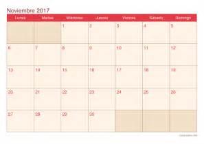 Calendario Noviembre Diciembre 2017 Calendario Noviembre 2017 Para Imprimir Icalendario Net