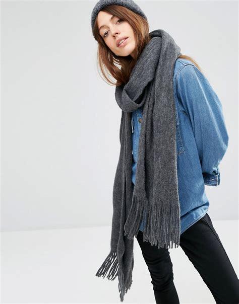 asos asos tassel scarf in supersoft knit at asos
