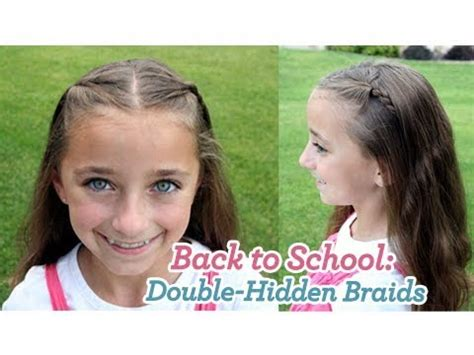 back to school hairstyles on youtube double hidden braids back to school cute girls