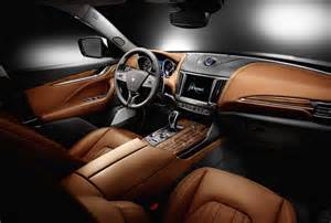 Interior Of Maserati 2017 Maserati Levante Interior Exterior And More