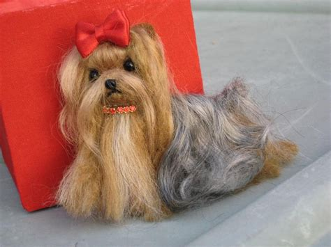 needle felted yorkie needle felted yorkie pin your likeness by by gourmetfelted
