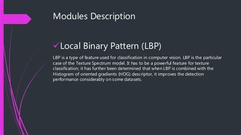 local binary pattern gender classification lbp based edge texture features for object recoginition