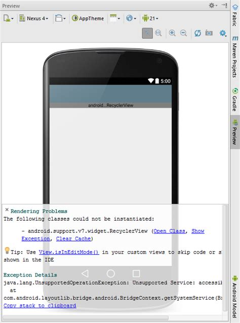 android studio layout rendering problems java android studio rendering problems the following