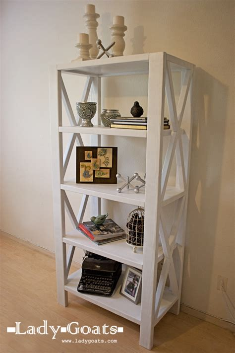 rustic  tall bookshelf ana white