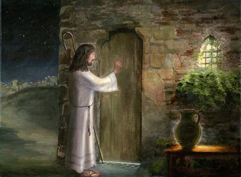 Jesus Knocking At The Door Meaning by Jesus Knocking At The Door Painting By Cecilia Brendel