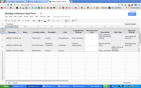 google form think share teach give your anecdotal records a face