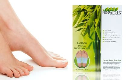 Gg Ca Bamboo And Herbal Detox Foot Patches by Bio Patches Bamboo Foot Patches Groupon Goods