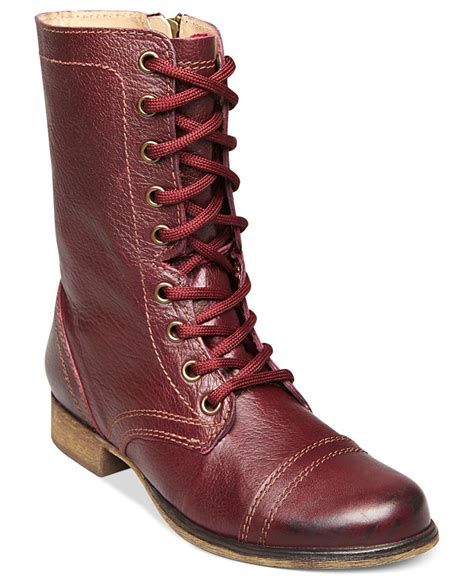 madden combat boots steve madden s troopa combat boots in lyst