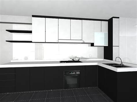 pictures of kitchens with white cabinets and black countertops black and white kitchen cabinets