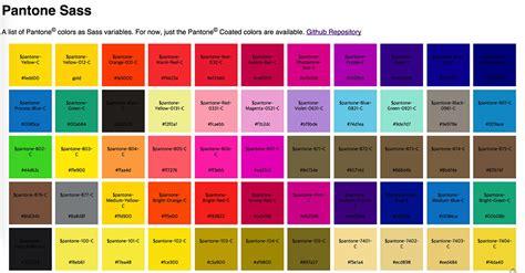 color themes sass pantone sass color chart design source pinterest