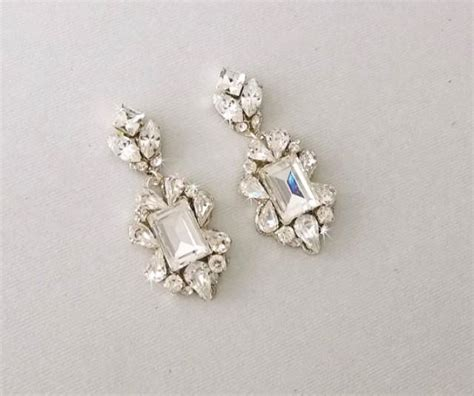Wedding Earrings Chandelier Earrings Gatsby Earrings Vintage Style Chandelier Earrings