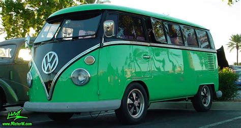 green volkswagen van vw bus time was 60 s that anyone driving one of these
