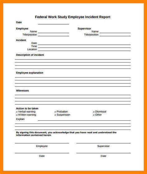 Incident Report Letter Pdf 8 Employee Incident Report Sle Day Care Receipts
