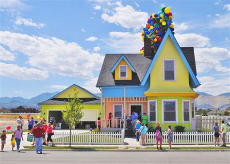 real life house from up disney pixar up house in real sparklette magazine