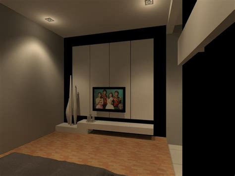 Bedroom Tv Console Design Condominium Master Bedroom Tv Console Interior Design