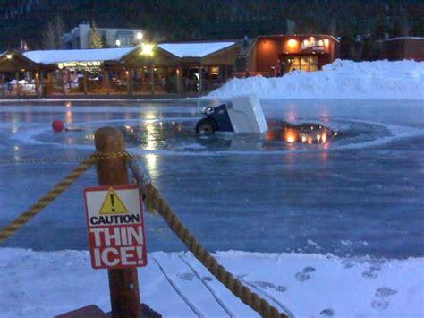 Backyard Hockey Rink Plans Keystone Lake Zamboni Falls Through Thin Ice The Denver Post