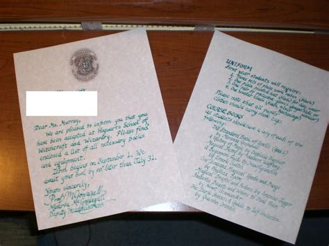 Hogwarts Acceptance Letter Yahoo What Exactly Does It Say On The Hogwarts Acceptance Letter Yahoo Answers