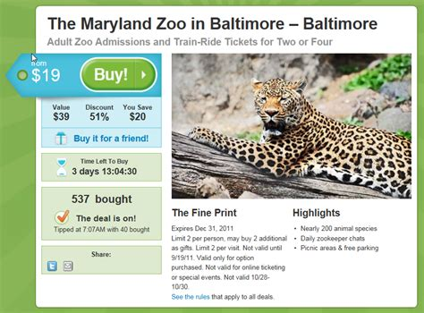 discount vouchers zoo coupon detroit zoo