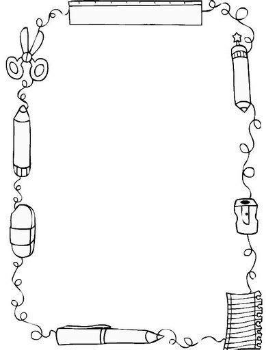 imagenes en blanco y negro de utiles escolares bordas para atividades patricia ssr 193 lbumes web de