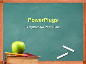 powerpoint templates education theme powerpoint template apple and pencil on book in front of