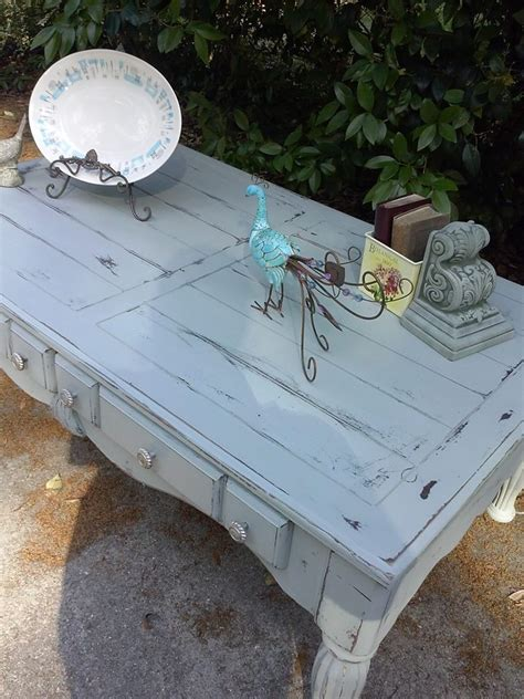 Gray distressed coffee table restore me furnishings pinterest shabby unique coffee table