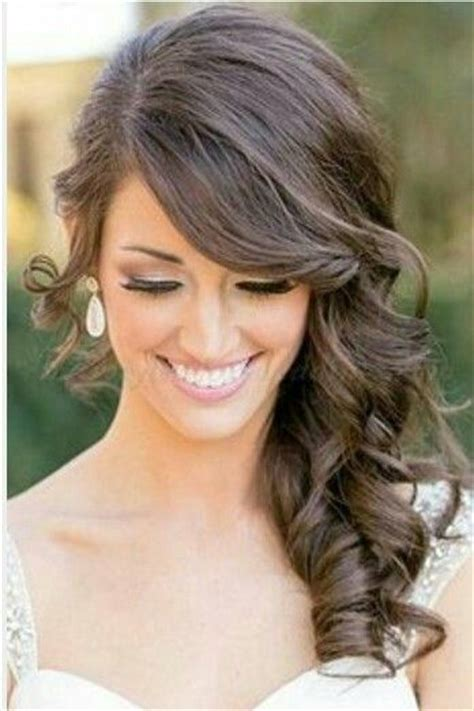 side hairstyles longer and bridesmaid on pinterest