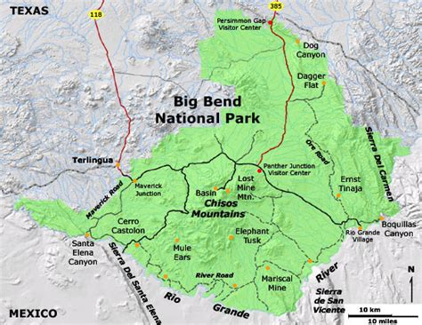big bend national park texas map big bend map jpg 549 215 425 pixels big bend national park