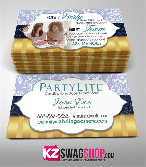 Partylite Business Card Template partylite business cards style 4 kz swag shop