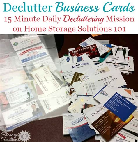 home storage solutions 101 organized home tips for organizing business cards for home reference