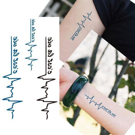 temporary tattoo pen waterproof bittb 50pcs ecg designs waterproof body temporary tattoos