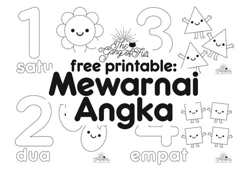 Printable Angka | free printable mewarnai angka the gang of fur